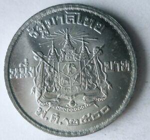 1957 THAILAND BAHT - AU/UNC - Excellent Exotic Silver Coin - Lot #A1
