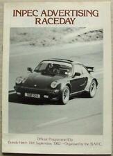 BRANDS HATCH 19 Sep 1982 INPEC ADVERTISING RACEDAY A4 Official Programme BARC