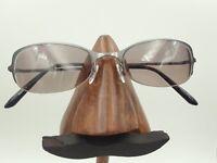 Vintage Hugo Boss HB11530 GR Gray Half-Rimmed Oval Sunglasses FRAMES ONLY