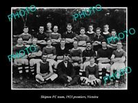 OLD 8x6 HISTORICAL PHOTO OF THE SKIPTON FOOTBALL CLUB VICTORIA 1923 PREMIERS