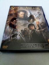 """DVD """"EL SEÑOR DE LOS ANILLOS EL RETORNO DEL REY"""" 2DVD COMO NUEVO PETER JACKSON"""