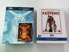 Intégrale Dungeon Keeper 1 & 2 (extension Deeper dungeons) PC Big box carton FR