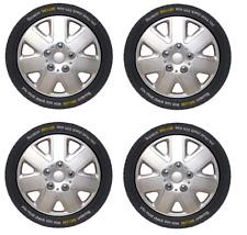"15"" Wheel Trims Covers Tyre Valve Caps Ties Alloy Look Silver spoke rims type 3"