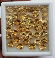 66 CT Natural Citrine Round Cut Loose Gemstone Lot 37 Pcs 8 MM