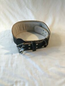 "VALEO 6"" Leather Weight Lifting Belt Size L"