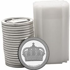 Crown Stackables 1oz .999 Silver Medallion in Tube 20pc by SilverTowne