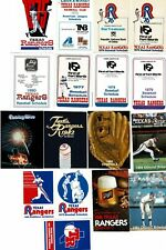 Lot of 17 Different TEXAS RANGERS MLB BASEBALL Schedules 1975-1985