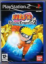 PS2 Naruto Uzumaki Chronicles 2 (2008), UK Pal, New & Sony Factory Sealed