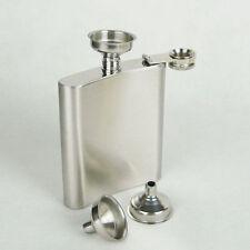Durable New 2Pcs Mini Metal Funnel Silver Hip Flasks Oils Perfumes Bottles Cones