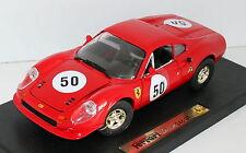 ANSON 1:18 AUTO DIE CAST FERRARI DINO 246 GT ROUGE LONGUEUR 24CM 30359