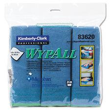 WypAll* Cloths w/Microban Microfiber 15 3/4 x 15 3/4 Blue 24/Carton 83620CT