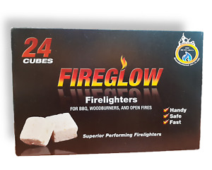 Fire Lighters Long Burning Fireglow Fast BBQ Oven Perfect for Smokeless Zone