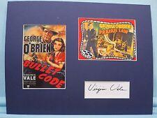 B Western Movie Star George O'Brien & co-star Virrginia Vale autograph