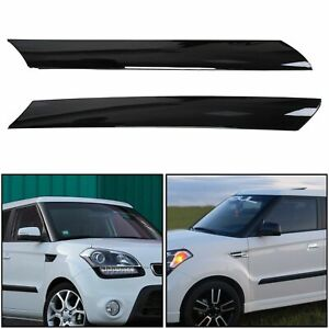 For 2010-2013 Kia Soul Left & Right Side Exterior Molding Windshield Pillar Trim