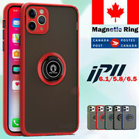 For iPhone 11 SE 12 Mini Pro Max 7 8 Matte Case Magnetic Shockproof Armor Cover
