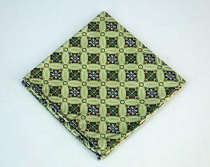Lord R Colton Masterworks Pocket Square Salvador Emerald Blue Silk - $75 New