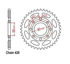 KR Kettenrad 50Z Teilung 428 DAELIM VC 125 Advance 96-99 ... Rear sprocket