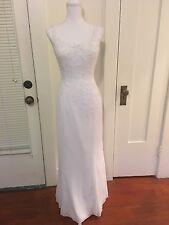 Bridal Originals designer white beaded bridal wedding dress gown size 8 medium