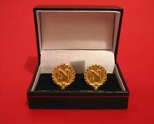 N and Bees Gold Plated Pewter Cufflinks Gift Boxed History Napoleonic Men's gift