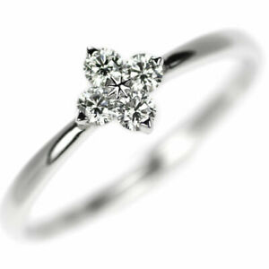 Star Jewelry Pt950 Diamond Ring 0.13ct Brite Test Star - Auth SELBY_JAPAN