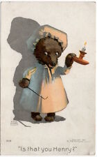 Rose Clark Art Postcard Teddy Bear Is That You Henry?~107832