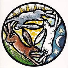 PAGAN WICCAN GREETING CARD Triple Coloured Hare CELTIC GODDESS HEDINGHAM FAIR