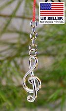 Music Keychain, Silver Treble, Nice Gift