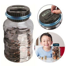 Children Kids Piggy Bank LCD Digital Coin Counting Money Saving Jar (Dollar)