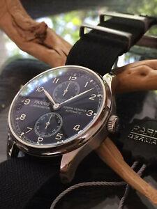 mechanische Automatik Uhr Luxus Hommage seagull Werk ST 25 Parnis Classic 42mm