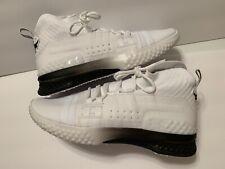 NEW Men's UA Project Rock 1 Training Shoes White Size 9.5 3020788-102 $120