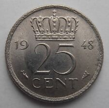 NETHERLANDS 25 CENTS 1948