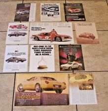 1983 + Ford Thunderbird Ads, Articles, Brochure, Turbo Coupe, PPG Indy Pace Car