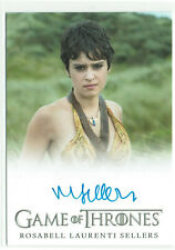 Game of Thrones Season 6 Autograph Card Rosabell Laurenti Sellers as Tyene Sand