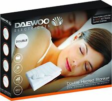 Daewoo White Single, Double & King Home Washable Heated Electric Blanket