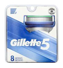 Gillette 5 Razor Blade Refill Cartridge Microfin Skin Guard, 8 Count Catridges