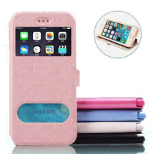 View Window Flip Case Wallet Leather Cover For Apple iPhone 4 5 5S 6/6 PLUS