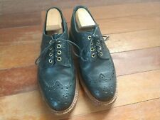 Trickers Black Pebbled Leather Brogue Size 8/9 Us Made In England