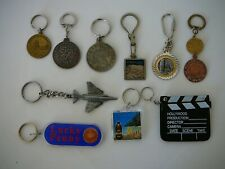 Assorted Lot Of 10 Variety Souvenir Keychains