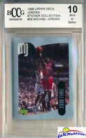 1998 Upper Deck #58 Michael Jordan Sticker BECKETT 10 MINT Bulls HOF