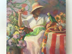 CA artist Don Hatfield, Original Oil Beach Painting, The Parrot, Extra Large