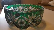 ANCIEN COUPE PLAT A CENTRE DE TABLE DESSERT CRISTAL SAINT LOUIS