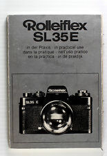 Original Rolleiflex SL 35 E Manual, in German, English, French, Italian, Spanish