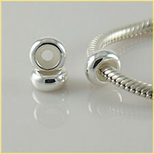 2 X 925 Sterling Silver Stopper Beads Spacers for 3mm European Charm Bracelets