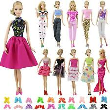 5 Sets Outfits Skirt Shirt Jacket Trousers Clothes +10 Shoes For 11.5 inch Doll