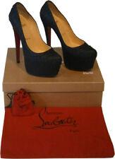 Christian Louboutin Python Daffodile 160 Platform Pump Black Shoes EU37 UK4 RARE