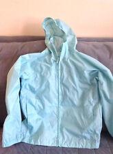 Girls Turquoise Lands End Size Large (6X -7) Windbreaker Jacket - Used