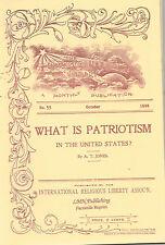 Alonzo T. Jones~PATRIOTISM IN THE UNITED STATES~1896~Seventh-day Adventist~SDA