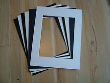 """6 x Professional Picture Framing Mat Boards 11"""" x 14"""" with A4 Photo Window"""