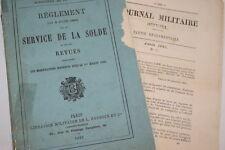 Militaire-Service de la Solde-REGLEMENT 8 juin 1883