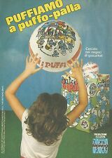 X2242 Puffiamo a Puffo Palla - Mondo - Pubblicità 1983 - Advertising